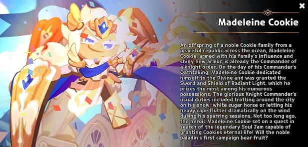 Cookie Run Kingdom Madeleine Cookie