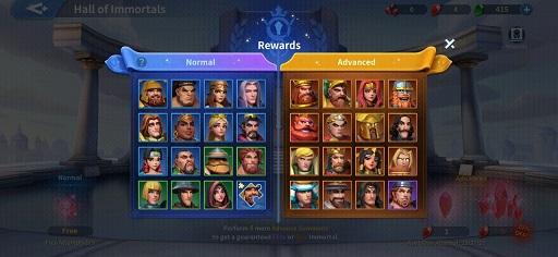 Infinity Kingdom Immortals Guide