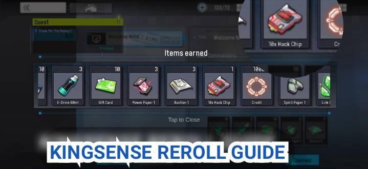 Kingsense Reroll Guide