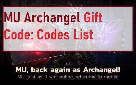 MU Archangel Gift Code Codes List