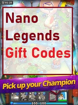 Nano Legends Gift Codes