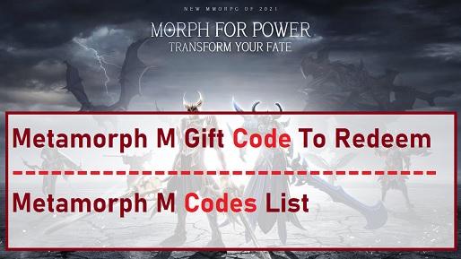 Metamorph M Gift Code Codes