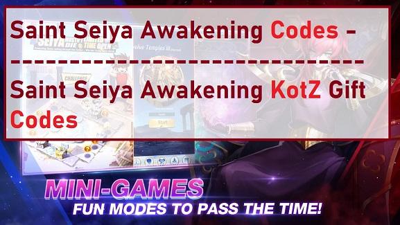 Saint Seiya Awakening Codes KotZ Gift Code