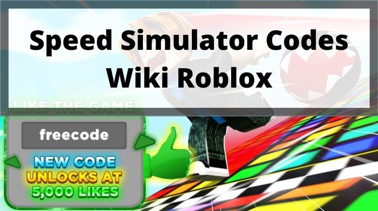 Speed Simulator Codes Wiki Roblox