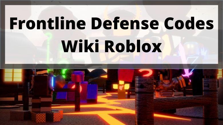 Frontline Defense Codes Wiki Roblox