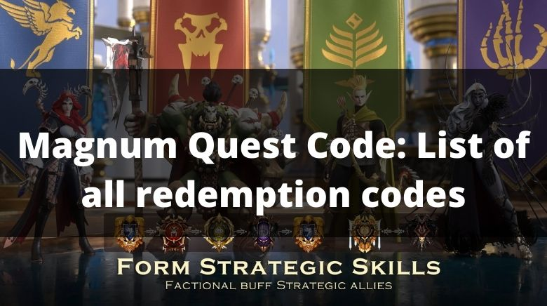 Magnum Quest Code List of all redemption codes