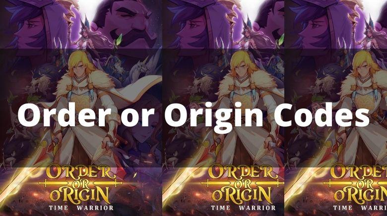 Order or Origin Codes